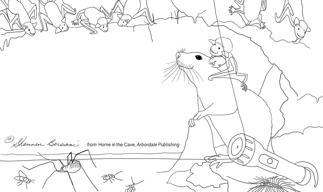 Pluribus Packrat and Baby Bat coloring page.  Shennen Bersani