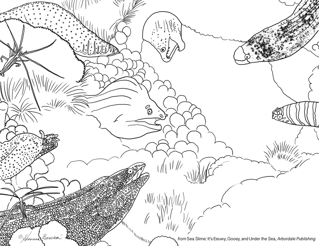 count the moray eel coloring page